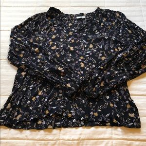 GAP floral long sleeve blouse